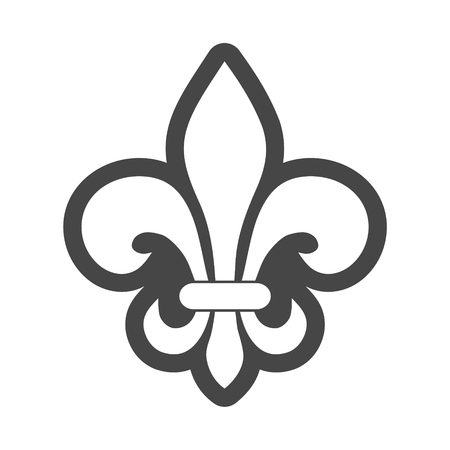 Fleur de lis icon Illustration