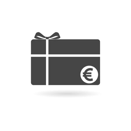 Shopping gift card icon Illustration