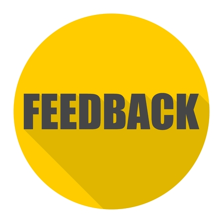 pensil: Feedback icon with long shadow
