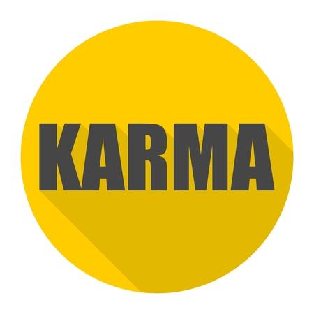 karma: Karma icon with long shadow