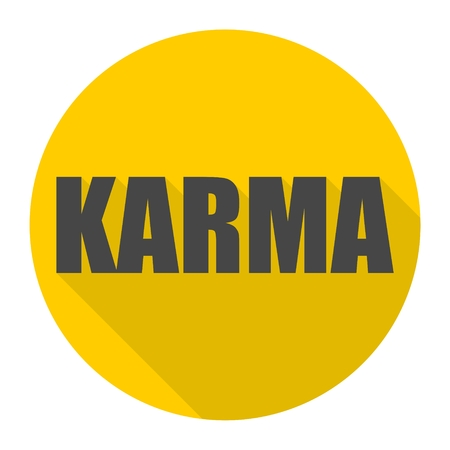 Karma icon with long shadow