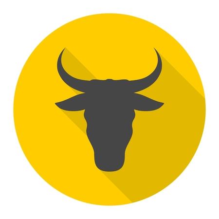 Bull line icon