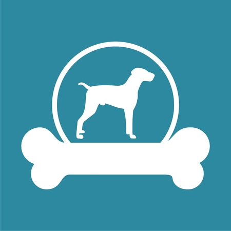 Dog design icon