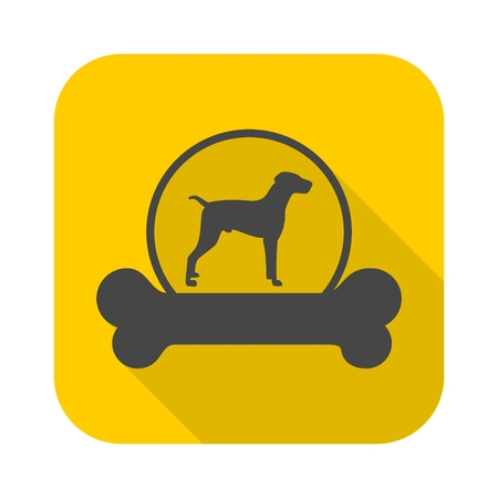 shepard: Dog design icon with long shadow Illustration
