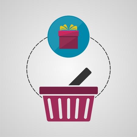 Ecommerce icon, Shopping design, Shopping basket