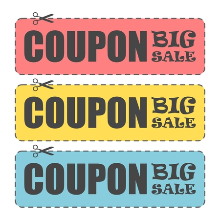 cutoff: Coupon design, Sale icon, Shopping concept, big sale Illustration