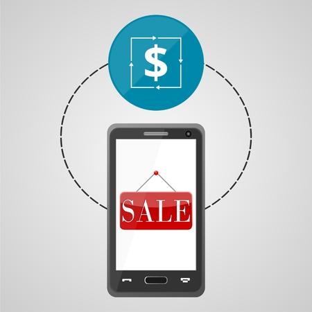 valet: Ecommerce icon, Shopping design, Smart phone