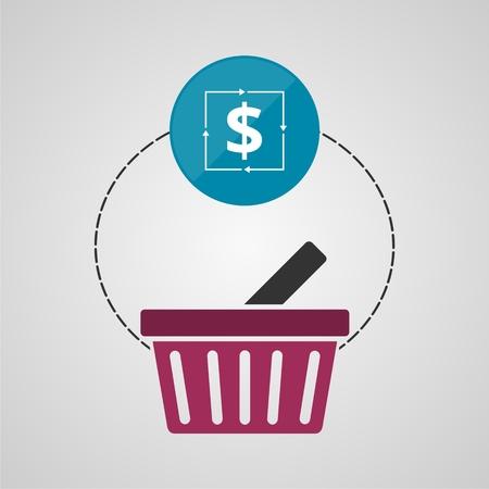 valet: Ecommerce icon, Shopping design, Shopping basket