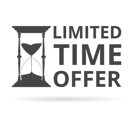 limited time: Limited time offer, hourglass symbol