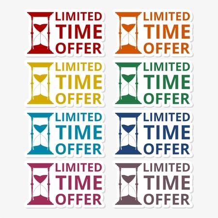 limited time: Limited time offer sticker set