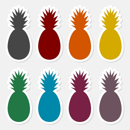 Pineapple Design, sticker set