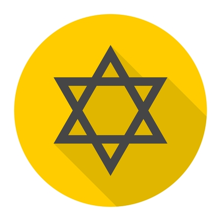 shalom: Star of David icon with long shadow
