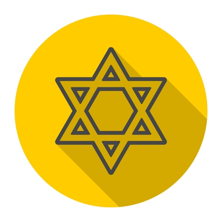 Star of David icon with long shadow