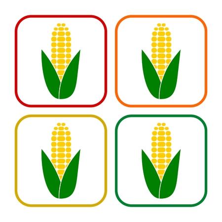 Ear of corn, Corn symbol set Фото со стока - 64113162