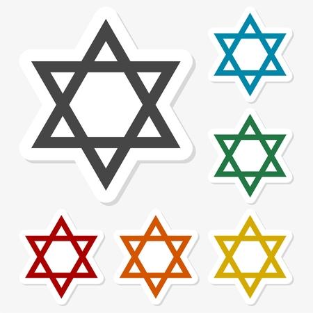 Star of David sticker set Illustration