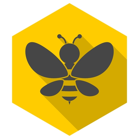 Bee sign icon Illustration