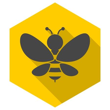 pollinate: Bee sign icon Illustration
