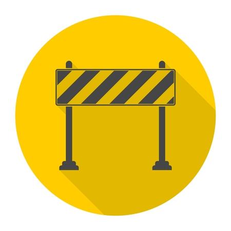 Barrier pictogram, Wegversperringen icoon met lange schaduw
