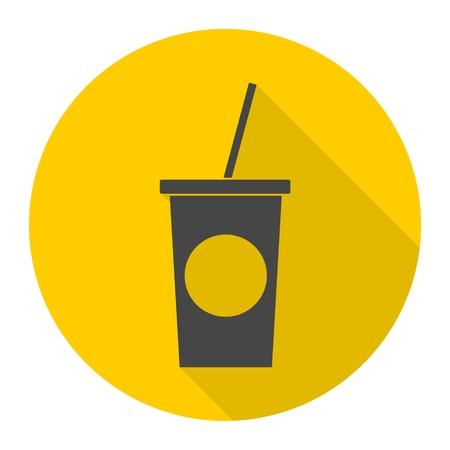 carbonated beverage: Soft drink icon Illustration