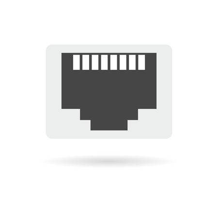 tcp ip: Vector network socket icon Illustration