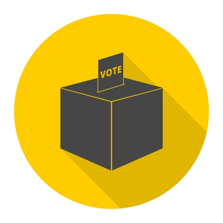 slot in: Vote icon with long shadow Illustration