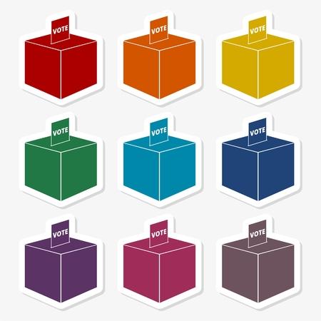 voter: Vote stickers set