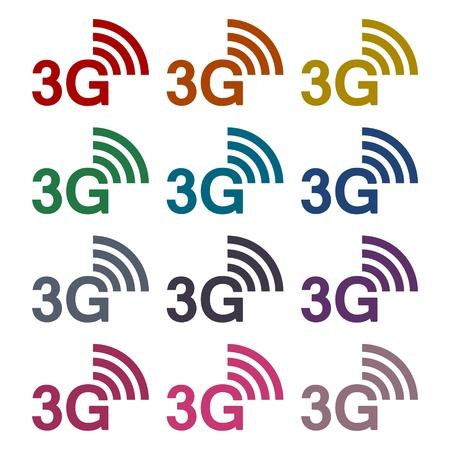 3g: 3G sticker set