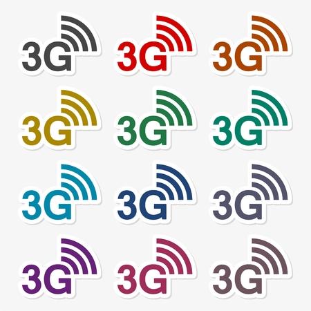 3g: 3G icons set
