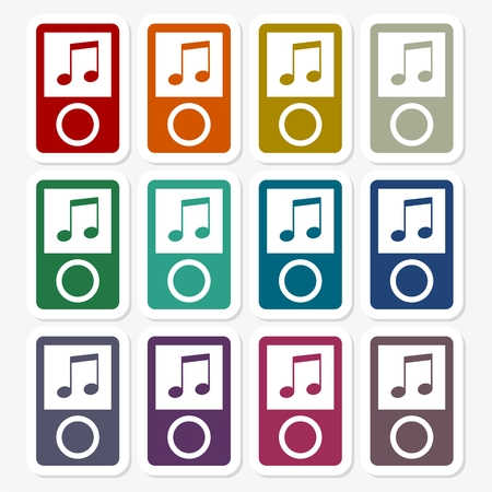 mp3: MP3 Player icons set