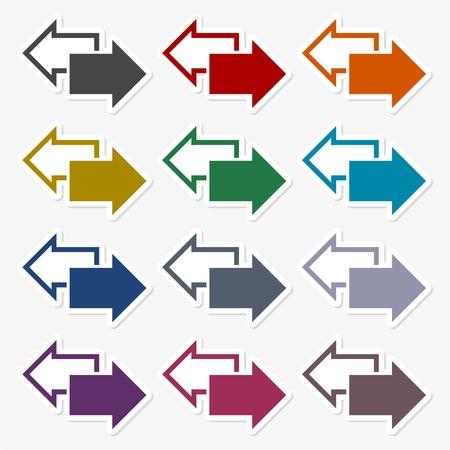 Exchange arrow sticker set