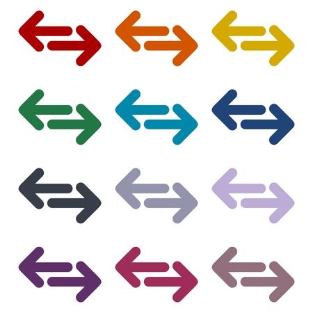 reverse: Exchange arrow icons set