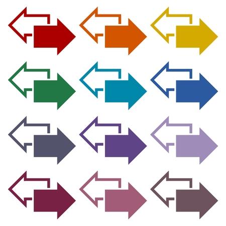 Exchange arrow icons set