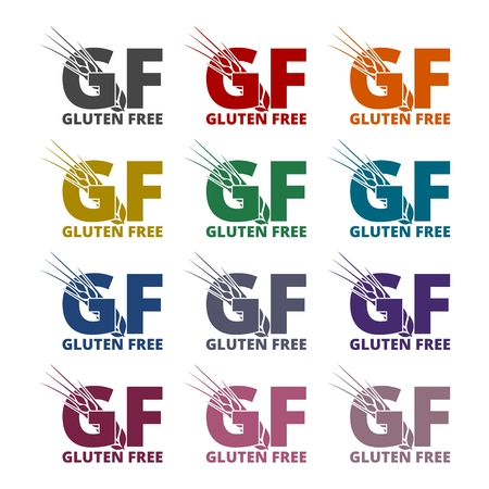 sprue: Gluten free Sign icons set