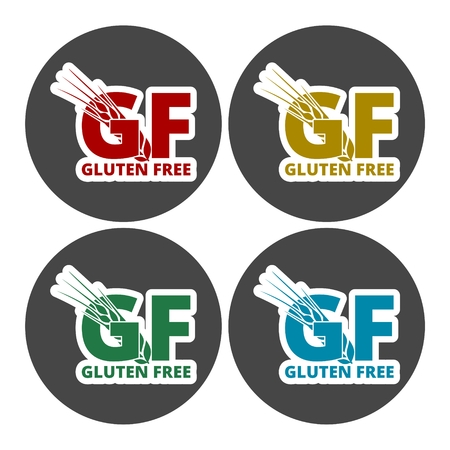 susceptibility: Gluten free Sign icons set