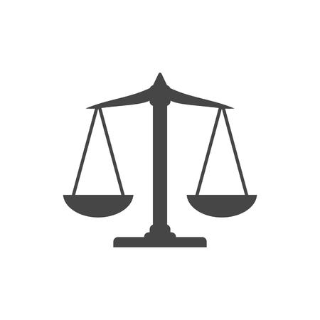 Scales balance icon, Justice Scale Icon Vettoriali
