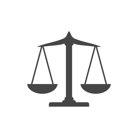 Scales balance icon, Justice Scale Icon Stock Illustratie