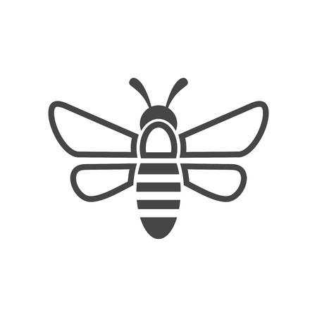 Bee Logo Sign Icon