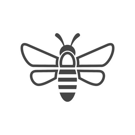 Bee Logo Sign Icon Stock Vector - 66448681