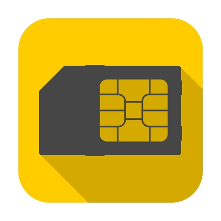 SIM cards icon with long shadow