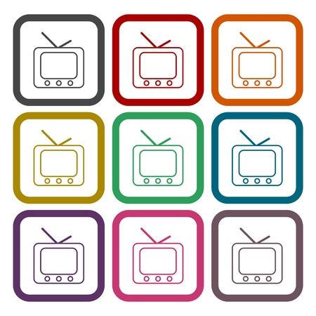 retro tv: Retro tv icons set