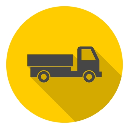 semitruck: Delivery truck icon