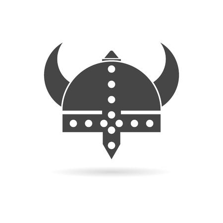 Viking helmet - vector icon Illustration