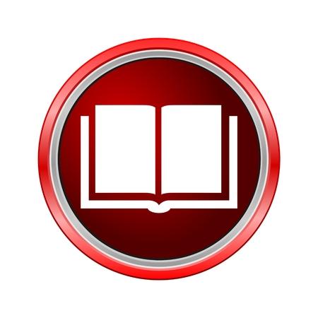 Book icon, Internet button on white background