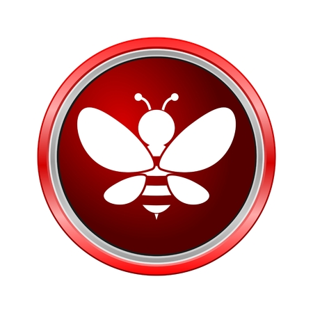 beeswax: Bee icon, Internet button on white background