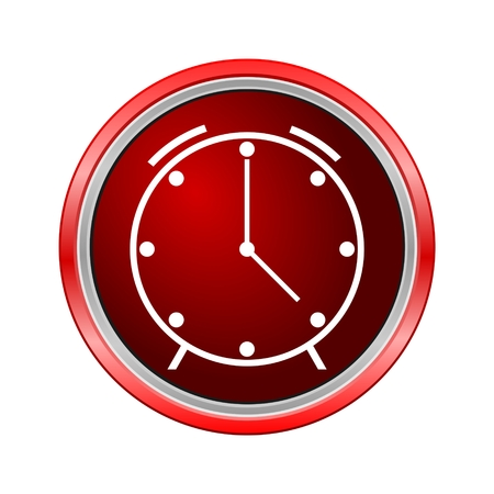 wake up call: Clock icon, Internet button on white background
