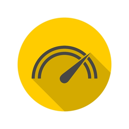 Vector performance measurement icon with long shadow
