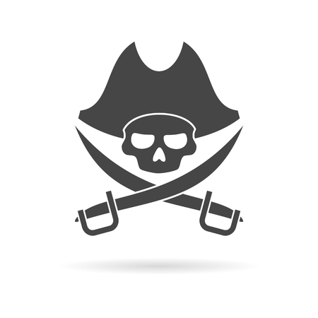pirate skull: Pirate skull icon