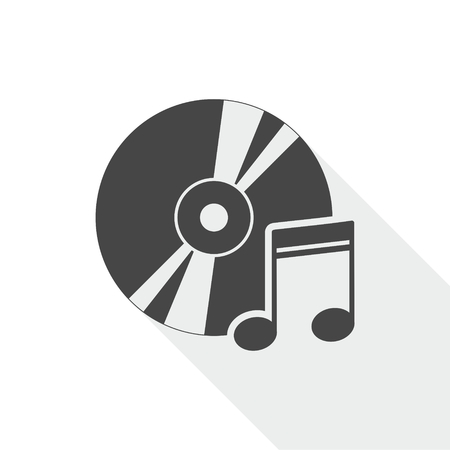 soundtrack: Note with disk icon Illustration
