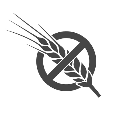 Glutenvrij icoon Stock Illustratie