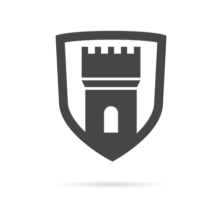 Castle, fortress vector icon